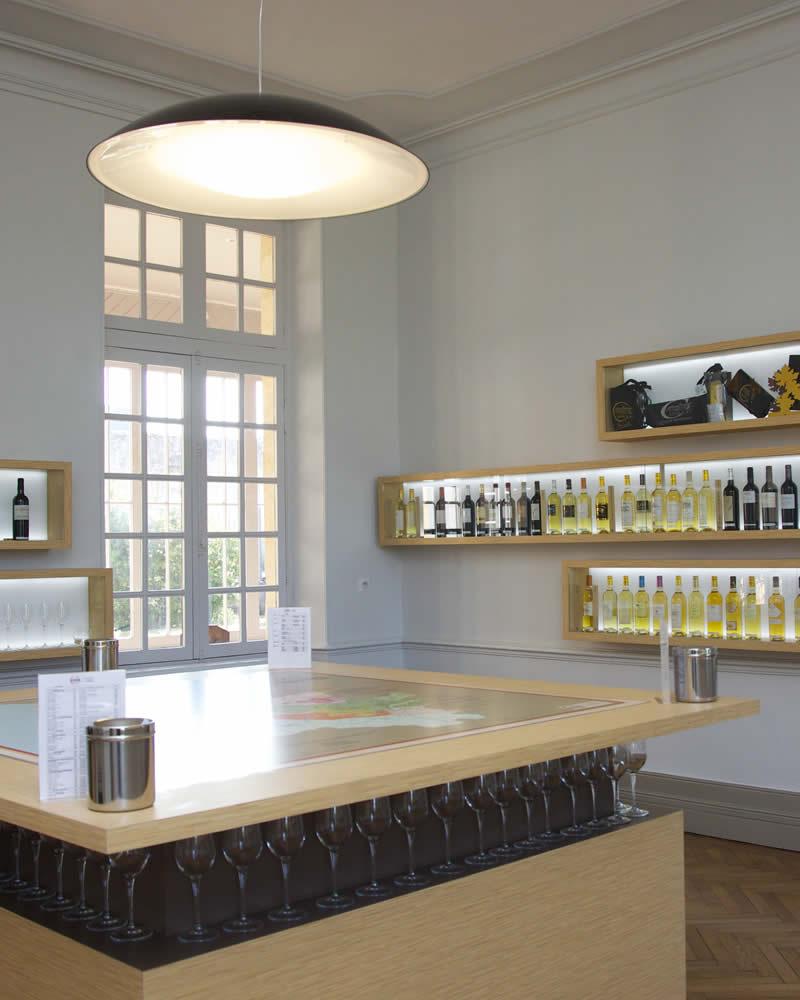 Salle de dégustation du Musée de la Vigne et du Vin de Cadillac