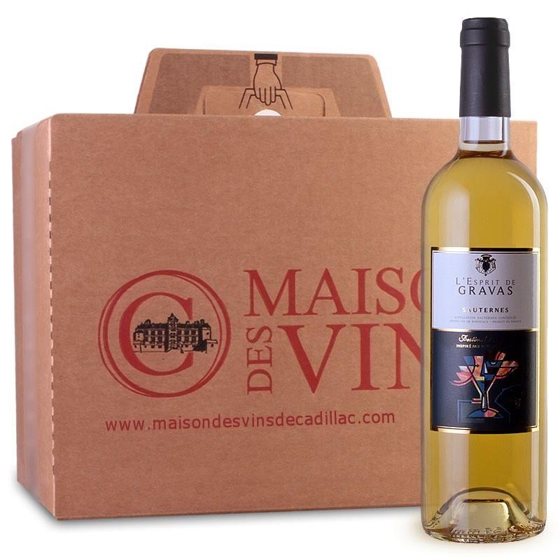 Esprit de Gravas - Sauternes - Maison des vins de Cadillac - Carton de 6 bouteilles