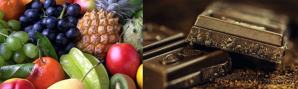 Millefeuille tout chocolat aux fruits exotiques, caramel de Cadillac au miel