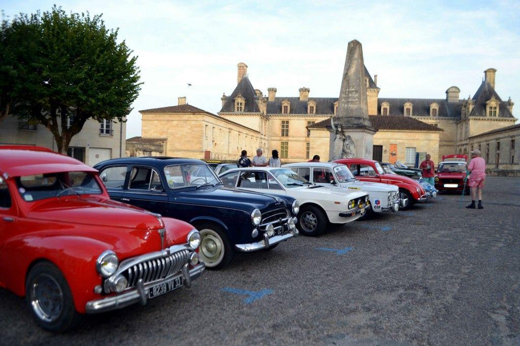 Rallye vintage des deux rives - Château de Cadillac
