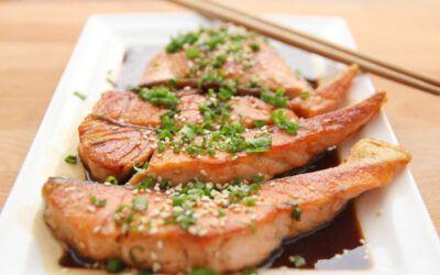 Tataki de saumon ou bonite
